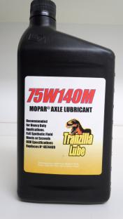 75W140M A full synthetic, multi-viscosity axle lubricant for Mopars