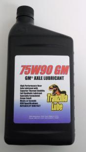 75W90 GM Axle Lubricant A full synthetic, high performance rear axle lubricant